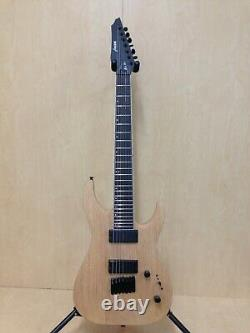 Haze Natural Oil Solid Mahogany Body 7-String Electric Guitar HS E007NOIL+Bag