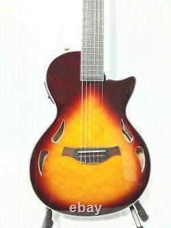 Haze Semi-hollow Body Nylon String Electric Guitar, Piezo Pickups+Bag MRC602FHCEQ