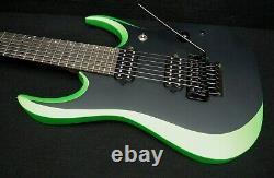 Ibanez RGD70ALNB EEM AXION LABEL 7 String Electric Solid DiMarzio Metallic Green
