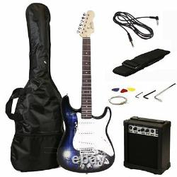Jaxville Reaper ST Style Electric Guitar Pack with Amp, Gig Bag, Strings, Strap