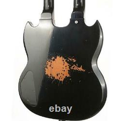 Jimmy Page 12&6 strings Double Neck Led Zeppeli black Electric Guitars Chinese