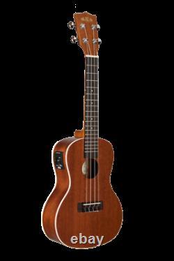 Kala Satin Mahogany Concert Acoustic Electric Ukulele with EQ, KA-CE