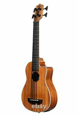 Kala U-BASS SCOUT Cutaway Mahogany Acoustic Electric Bass Ukulele with Padded Bag