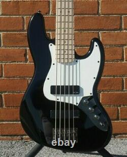 NEW 2020 Squier Contemporary Active Jazz 5-String Black Electric Bass Guitar