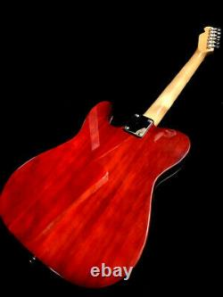 NEW 6 STRING TELE STYLE double f hole SEMI HOLLOW TOBACCO BURST ELECTRIC GUITAR