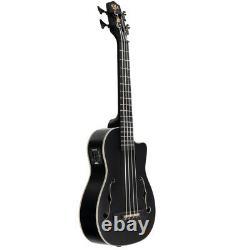 NEW Kala UBASS-JYMN-BK-FS Matte Black Mahogany Acoustic Electric Bass Ukulele