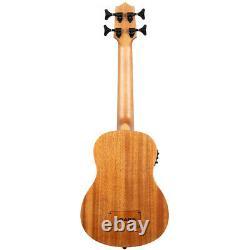 NEW Kala U-BASS NOMAD Mahogany Acoustic Electric Bass Ukulele with Padded Bag