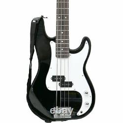 NEW! PB Precision Style Black 4 String Electric Bass Guitar & 15W Amp
