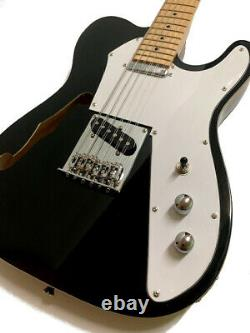 New 12 String Semi-hollow Blackthinline Tele Style Electric Guitar
