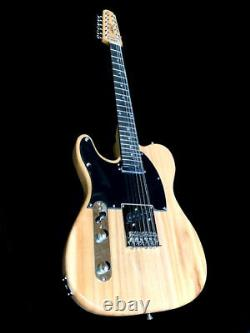 New 12 String Tele Style Natural Left Handed Solid Body Electric Guitar