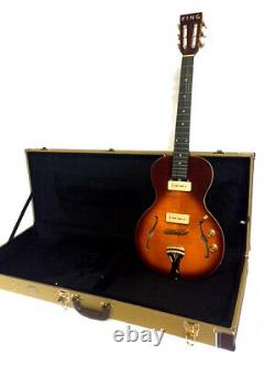 New 6 String Little Sister Style Semi Hollow Flame Maple Electric Guitar + Case