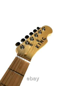 New 6 String Natural Tele Style Offset Jaguar Body Electric Guitar
