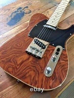 New Exotic Burly Maple Top 6 String Tele Style Electric Guitar Lightweight