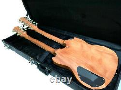 New Exotic Wood 12/6 String Double Neck Sg Style Electric Guitar-natural