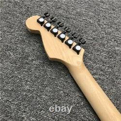New Exotic Wood Electric Guitar Natural Semi Hollow St Style 6 String