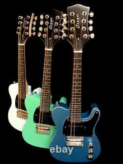New Mando-caster 8 String Slab Body Tele Style Electric Mandolin 3 Colors
