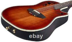 New Ovation MM68AX-DS Acoustic-Electric Mandolin AA Sitka Spruce Top +Hard Case