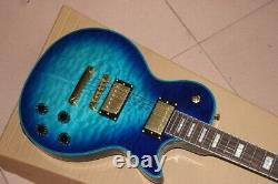 New Quality Blue Electric Guitar Les-Paul 6 String Rosewood Electric Guitar
