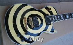 New Zakk Wylde Yellow Black Circle 6 Strings Electric Guitar Chinese eddition
