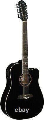 Oscar Schmidt OD312CEB 12 String Acoustic Electric Guitar Barcus Berry EQ