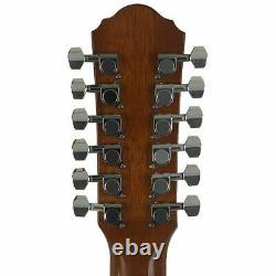 Oscar Schmidt OD312CETS 12-String Acoustic Electric Guitar, Tobacco Sunburst