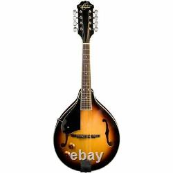 Oscar Schmidt OM10ETSLH Left-Handed A-Style Acoustic Electric Mandolin, Sunburst