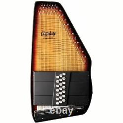 Oscar Schmidt OS150FCE Appalachian 21 Chord Electric Autoharp, Sunburst