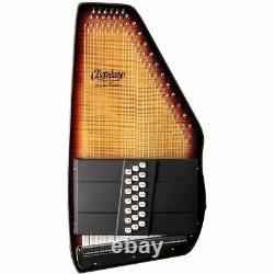 Oscar Schmidt OS150FCE Appalachian 21 Chord Electric Autoharp with AC445 Case