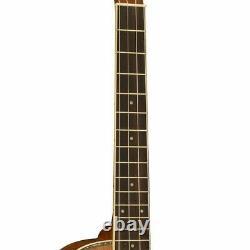 Oscar Schmidt OU55CEK Hawaiian Koa Acoustic Electric Baritone Ukulele with Gig Bag