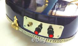 PURPLE HAZE INDIAN SITAR ELECTRIC RESONATING GUITAR FUSION IN CEDAR w VOL & TONE