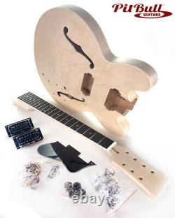 Pit Bull Guitars DES-7 27 Scale 7 String Semi-Hollow Electric Guitar Kit Ma