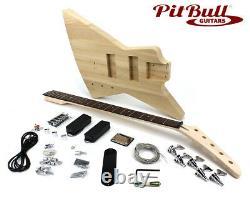 Pit Bull Guitars EXA-5 Electric 5-String Bass Guitar Kit Ash Body