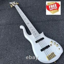 Prince Cloud White 5 string Electric bass Guitar Alder Body Chinese eddition