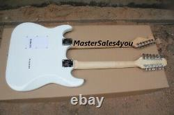 ST12 string + 6 string double neck electric guitar white body red pearl guard