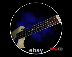Solidbody Electric Surfboard Ukulele Mahalo MEU1N Aquila Nylon Strings & Bag