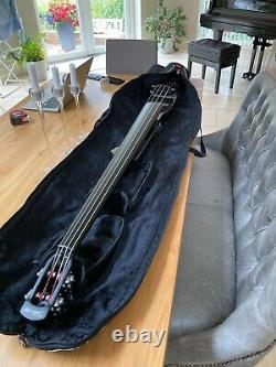 Stagg 3/4 Electric Double Bass Outfit Metallic Black