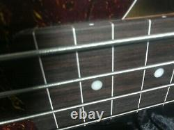 Swing Fretless JJ4R Relic Sunburst 4 String Electric Bass Guitar