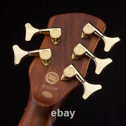 Sx Electric Bass 5 String Arched Body Natural Satin Finish