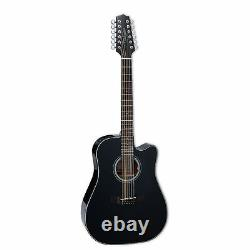 Takamine GD30CE-12 BLK Dreadnought 12 String Acoustic Electric Guitar, Black