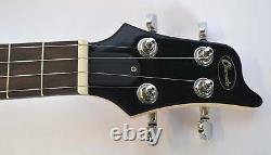 Tenor Ukulele Electric Steel Strings Strat Guitar Shape In White By Clearwater
