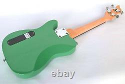 Tenor Ukulele Electric Steel Strings Tele Shape Uke In Green By Clearwater