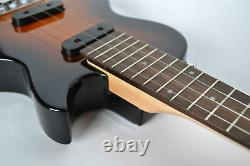Tenor Ukulele Electric solid body Steel string LP style Guitar by Clearwater