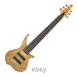 Tune TWX62 6 String Electric Active Bass Natural Ash Brass Nut Casiopea