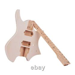 Unfinished DIY Electric Guitar Kit 6-String Basswood Body Maple Fingerboard A8Q