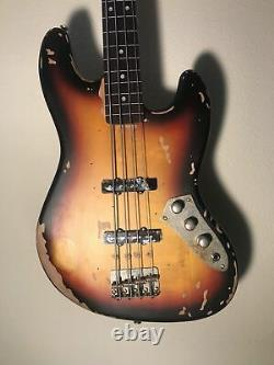 Vintage V74MR Icon Distressed JP Jaco Fretless 4 String Electric Bass IN ST