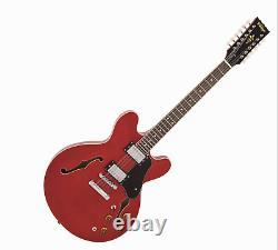 Vintage VSA500CR-12 string 335 Semi Hollow Electric Guitar = Tone Machine
