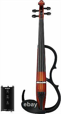 Yamaha SV250 Silent Electric Violin 4-String brown made in japan F/S withTracking