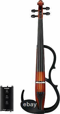 Yamaha Silent Electric Violin SV250 Brown 4-String New