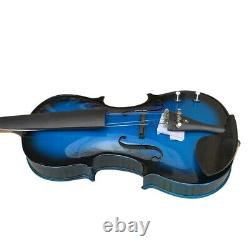 Zest Violins are Stylish, Eye-Catching 4/4 Electro Acoustic Blue Violin Big Pack
